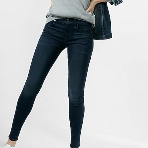 Express Mid Rise Jean Leggings—Excellent Condition